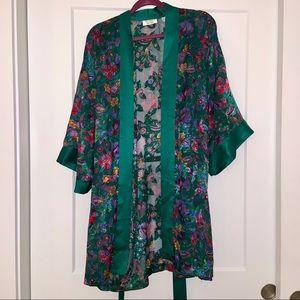 Victoria's Secret sheer floral kimono robe